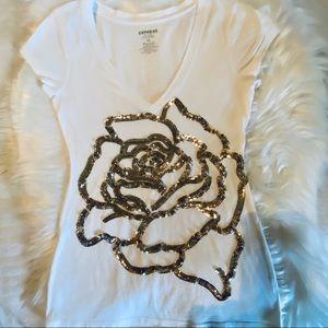 ⚜️Gorgeous Express Gold Rose Top⚜️